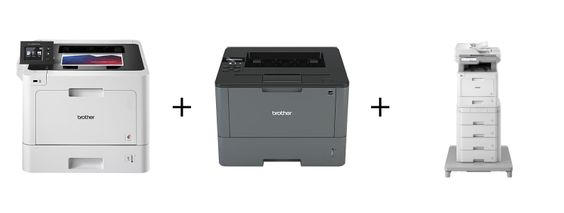 OFFER #5 $72.00 PER MONTH: 1 HLL8360CDW color printer + 1 HLL5200DW mono printer + 1 MFC L9570CDW color copy/print/scan/fax