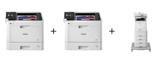 OFFER #4 $75.00 PER MONTH: 2 HLL8360CDW color printers + 1 MFC L9570CDW color copy/print/scan/fax