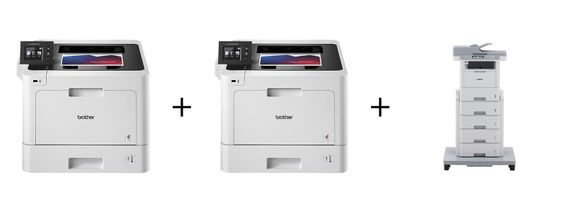 OFFER #1 $68.00 PER MONTH: 2 HLL8360CDW color printers + 1 MFC L6900DW mono copy/print/scan/fax